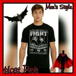 ☆ NEW Mens BATMAN V SUPERMAN GRAPHIC TEE SZ: S